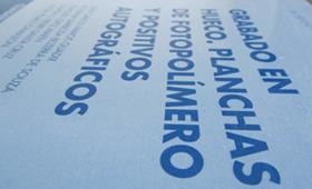 Cuadernos de trabajo. Fotopolímero.