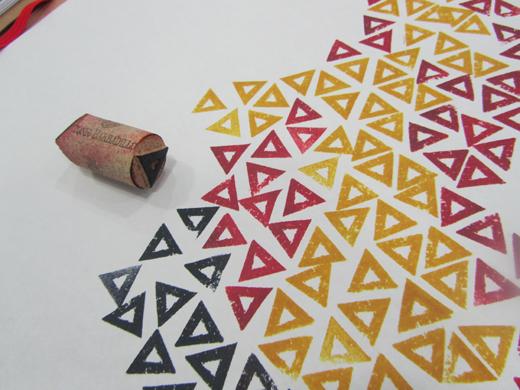Tampografía realizada mediante tapón de corcho