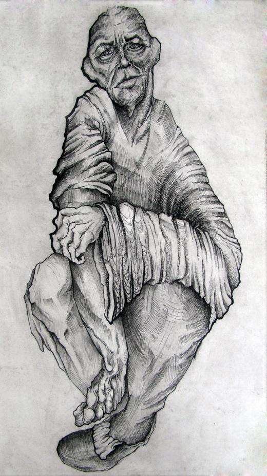 Resentimiento, 2009 Grabado en hueco mediante plancha de fotopolímero  Edición Kalevala.